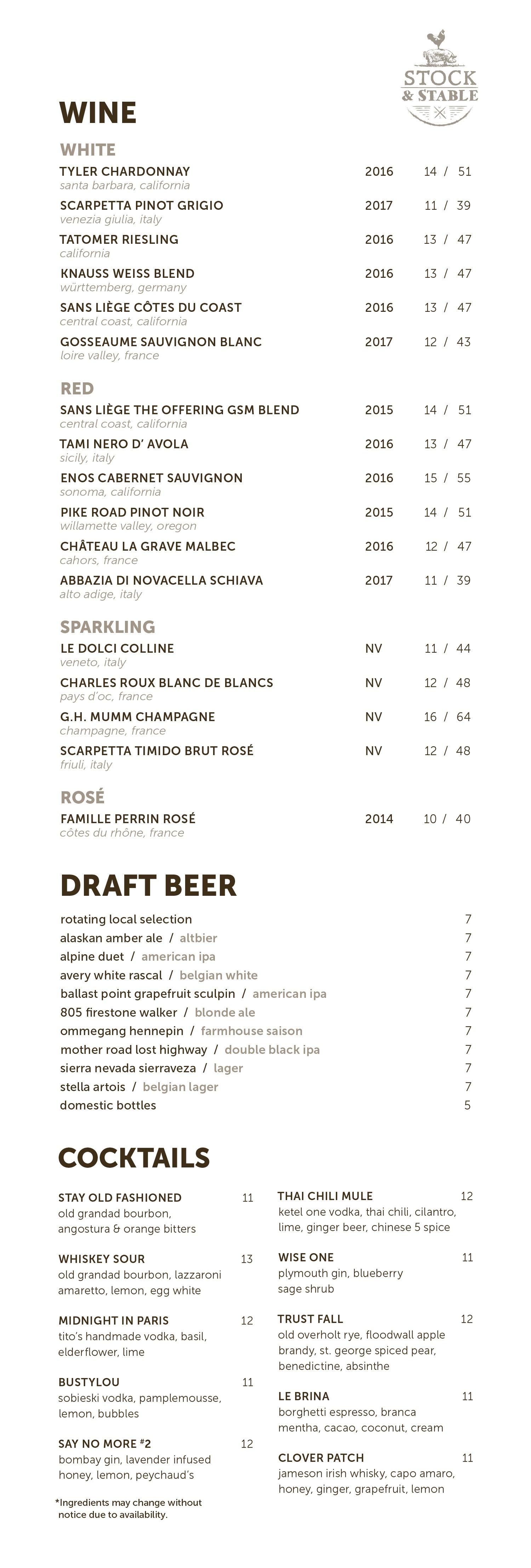 11.4.19 5x11 S+S drinks